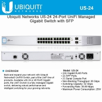 Ubiquiti UniFi Switch 24 Non-PoE (US-24)